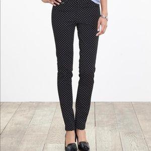 Banana Republic Polka Dot Sloan Pant ankle trouser